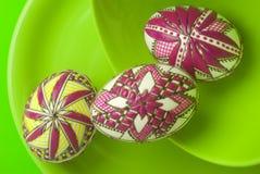 Aún-vida de los huevos de Pascua Foto de archivo libre de regalías