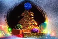 Aún-vida de los regalos de la Navidad Fotografía de archivo