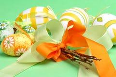 Aún-vida de Pascua con los huevos Imágenes de archivo libres de regalías