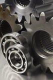 Aún-vida de piezas mecánicas Foto de archivo