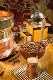 Aún-vida del café Imagen de archivo