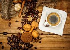 Aún-vida del café Imagenes de archivo