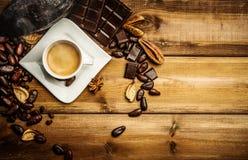 Aún-vida del café y del cacao Fotos de archivo libres de regalías