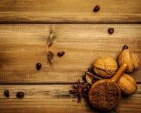 Aún-vida del café y del cacao Imagen de archivo libre de regalías