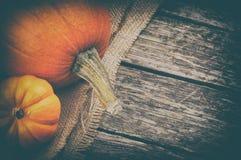 Aún-vida del otoño con las calabazas Foto de archivo libre de regalías