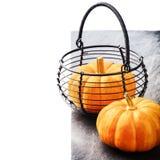 Aún-vida del otoño con las pequeñas calabazas Fotografía de archivo
