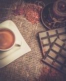 Aún-vida del tema del café Fotos de archivo libres de regalías