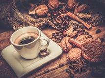 Aún-vida del tema del café Imágenes de archivo libres de regalías