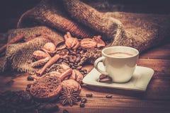Aún-vida del tema del café Fotografía de archivo libre de regalías