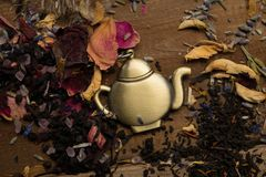 Aún-vida del tema del té Imágenes de archivo libres de regalías