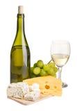 Aún-vida del vino y del queso Imagenes de archivo