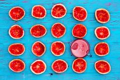 Aún vida exótica colorida del pomelo exprimido Fotografía de archivo