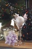Aún vida festiva con dos vidrios de cóctel Fotografía de archivo libre de regalías
