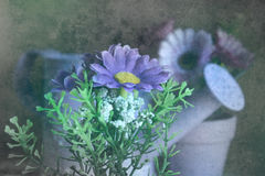 Aún vida floral texturizada Fotografía de archivo
