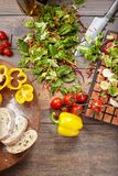 Aún vida hermosa con las verduras Fotos de archivo libres de regalías