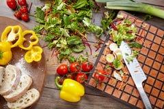Aún vida hermosa con las verduras Fotografía de archivo