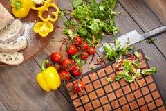 Aún vida hermosa con las verduras Foto de archivo libre de regalías