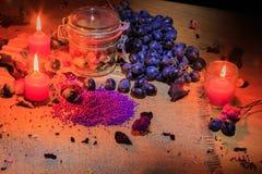 Aún vida hermosa de la fruta y de las lámparas Fotografía de archivo libre de regalías