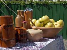 Aún vida hermosa de manzanas Foto de archivo libre de regalías