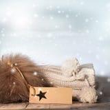 Aún vida hivernal con calor y la relajación Fotografía de archivo libre de regalías