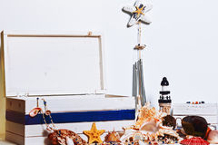 Aún vida náutica conceptual Foto de archivo libre de regalías