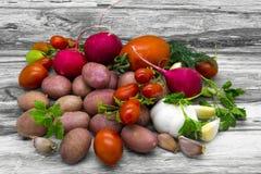 Aún vida rústica vegetal Imagen de archivo