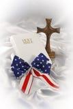 Aún vida religiosa patriótica Imagen de archivo