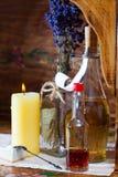 Aún vida retra con los frascos de la farmacia Fotografía de archivo libre de regalías