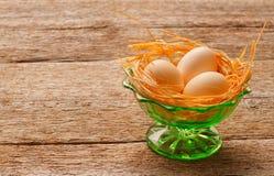 Aún vida retra con los huevos Fotografía de archivo