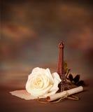 Aún vida romántica Foto de archivo