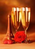 Aún vida romántica festiva Foto de archivo