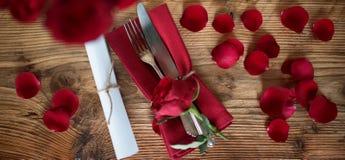 Aún vida romántica para el día de tarjetas del día de San Valentín Imagen de archivo