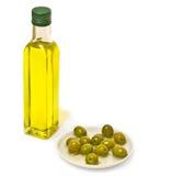 Aún-vida verde oliva Foto de archivo