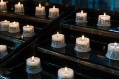 Żałobne świeczki Obrazy Royalty Free