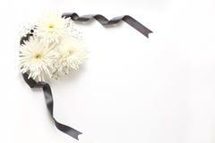 Żałobni kwiaty zdjęcie royalty free
