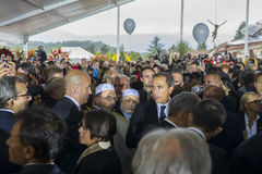 Żałobnicy przy funerals dla Amatrice i Accumuli, Włochy trzęsienie ziemi Obraz Stock