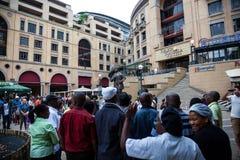 Żałobnika gromadzenie się dla Mandela Fotografia Royalty Free