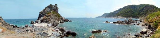 ażio beach Greece ioanis wyspy scopelos zdjęcia stock
