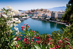 ażio Crete Greece Nikolaos Fotografia Stock