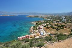 ażio Crete Nikolaos Zdjęcia Stock