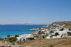 Ażio Ioannis plaża Zdjęcie Royalty Free