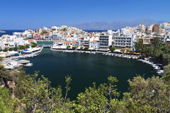 Ażio Nikolaos miasto przy Crete wyspą, Grecja Obraz Stock
