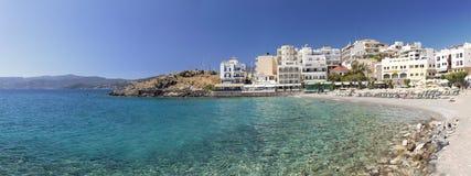 Ażio Nikolas plaża Crete Obrazy Royalty Free
