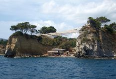 Ażio Sostis wyspa obraz stock
