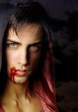 A英俊的吸血鬼画象  免版税库存图片