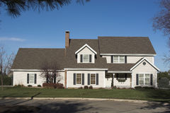 Free A 2-Story Executive Home - Front View Stock Photo - 1556070