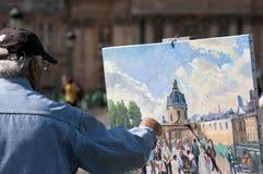 Free A Artist Painting The Bureau Des Longitudes, Paris Royalty Free Stock Photos - 182109488