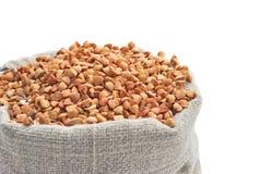 A Bag Of Buckwheat. Stock Photography