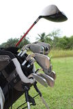A Bag Of Golf Driver And Stell Irons Stock Image