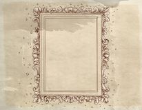 Free A Baroque Frame With Antique Vintage Base Royalty Free Stock Photography - 123230977
